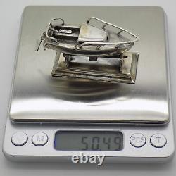 Vintage Sterling Silver 925 Italian Made RARE Speedboat Figurine Hallmarked
