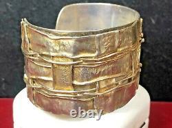 Vintage Sterling Silver Cuff Bracelet Designer Avi Soffer Made In Isreal