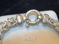 Vintage Sterling Silver Designer Signed Milor Bracelet Byzantine Made In Italy
