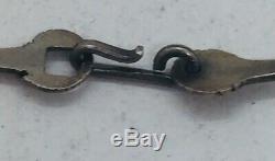 Vintage Sterling Silver Hand Made Bar Link Modernist Chain Necklace