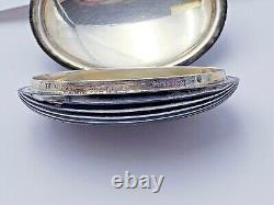 Vintage Tiffany & Co. Sterling Silver Ribbed Melon Pill Box Made in Italy 10553