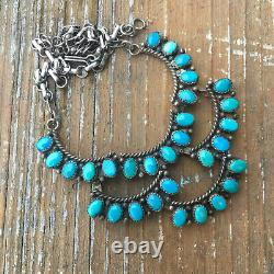 Vintage Turquoise Necklace made by Mathilda Benally Sterling Silver Necklace