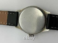 Vintage WW2 Era Winton Swiss Made Sterling Silver Military Style Watch