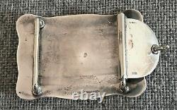Vogt Sterling Silver Hand Made Cowboy Cowgirl Western Belt Buckle Free Shipping