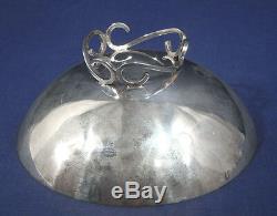 Vtg Mid Century Modern Sciarotta Hand Made Sterling Silver Bon-Bon Candy Dish