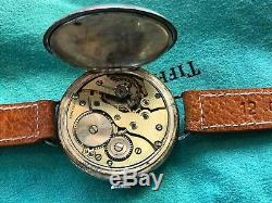 WW1 Sterling Silver Officers Trench Watch Swiss Made