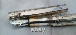 Waldmann Xetra Sterling Silver 925 Fountain Pen Medium Nib Made In Germany