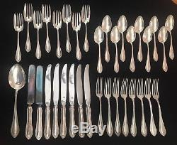 Watson/Wallace King Philip Sterling Silver Service For 8 Flatware Set Made USA