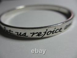 XRARE James Avery Sterling Psalm 413 This is the day the Lord has made Bangle