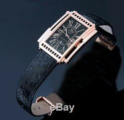 Xezo RARE VINTAGE Ca. 2001 Architect 18K Rose Gold Pl. Watch. Swiss Made Quartz