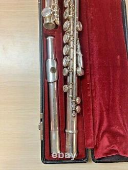 Yamaha 481 II Sterling Silver 925 Flute With Case Made In Japan
